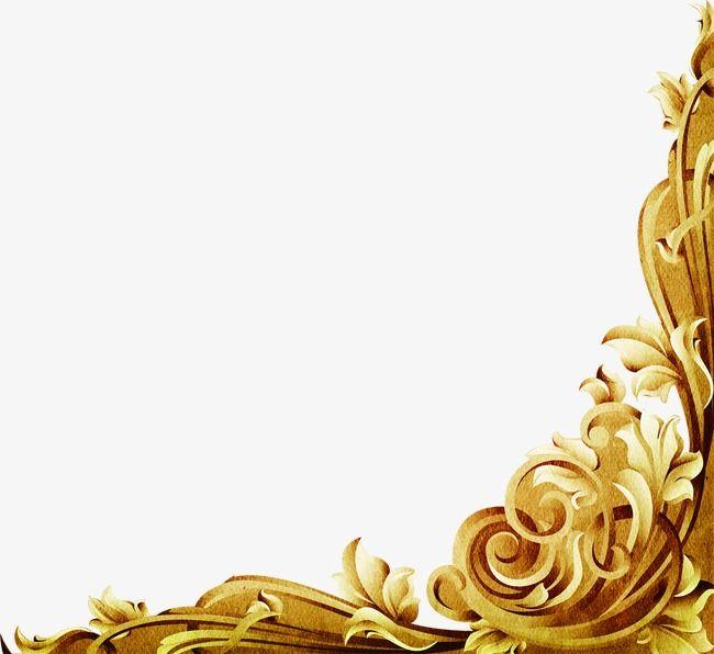Marco de oro europeo, Continental, Golden, Frame Imagen PNG ...