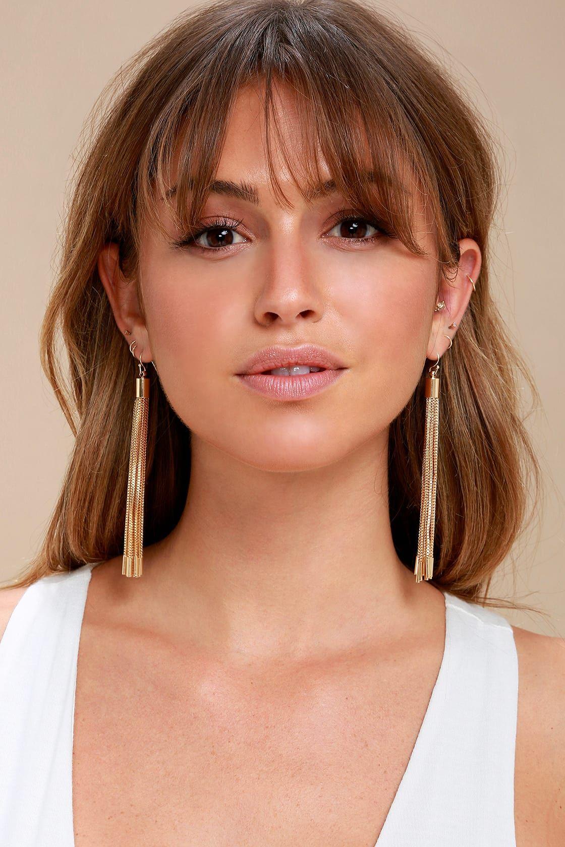 Sheen Queen Gold Tassel Earrings