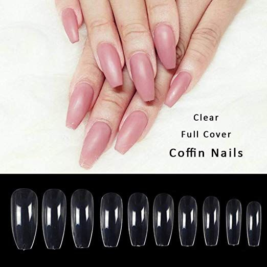 About the product 500pcs artificial full cover nail tips in