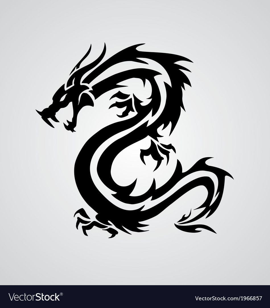 Tribal Dragon for Tattoo Design. Download a Free Preview