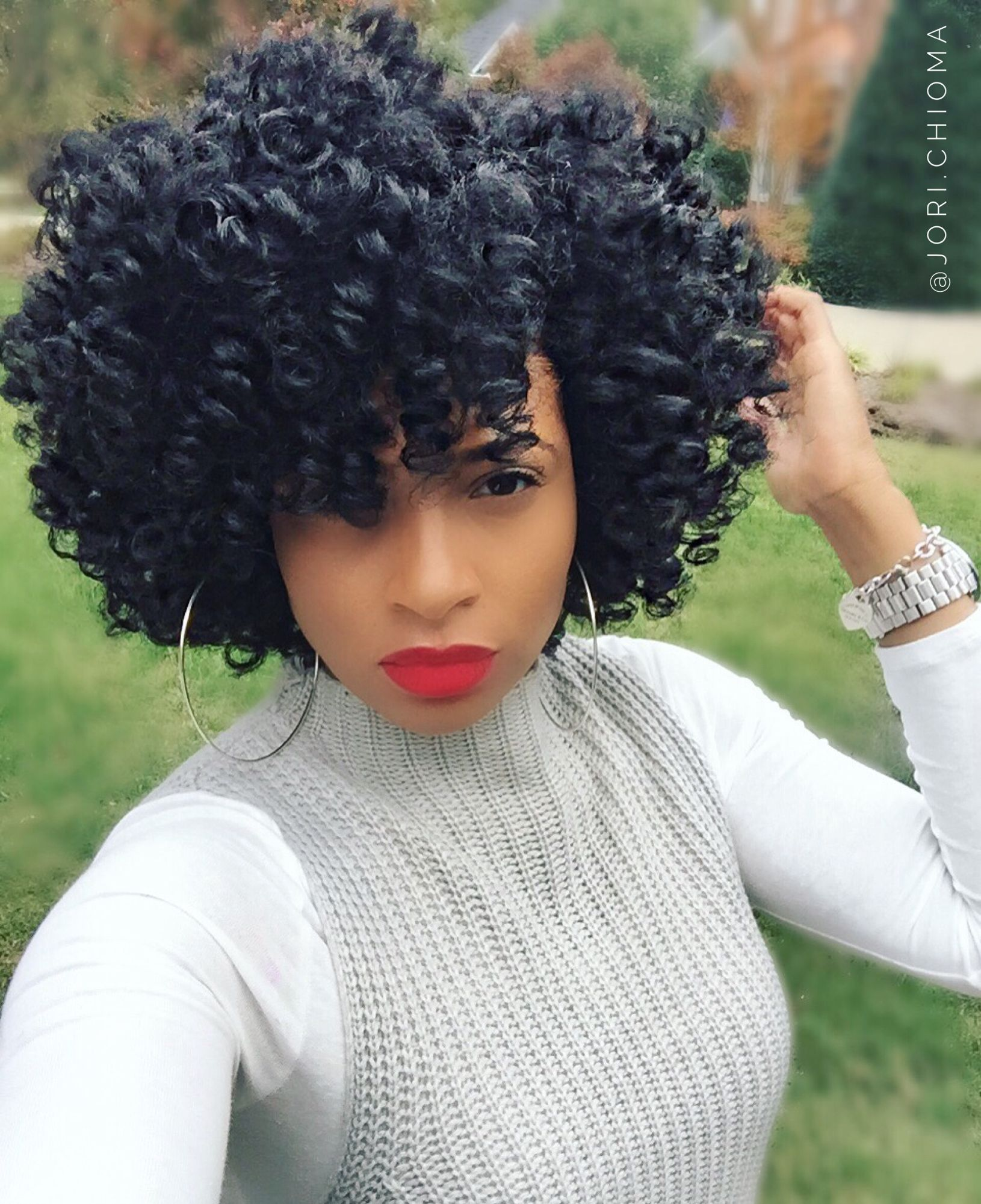 hair goals. nice crochet tho … | crochet hair styles | natur…