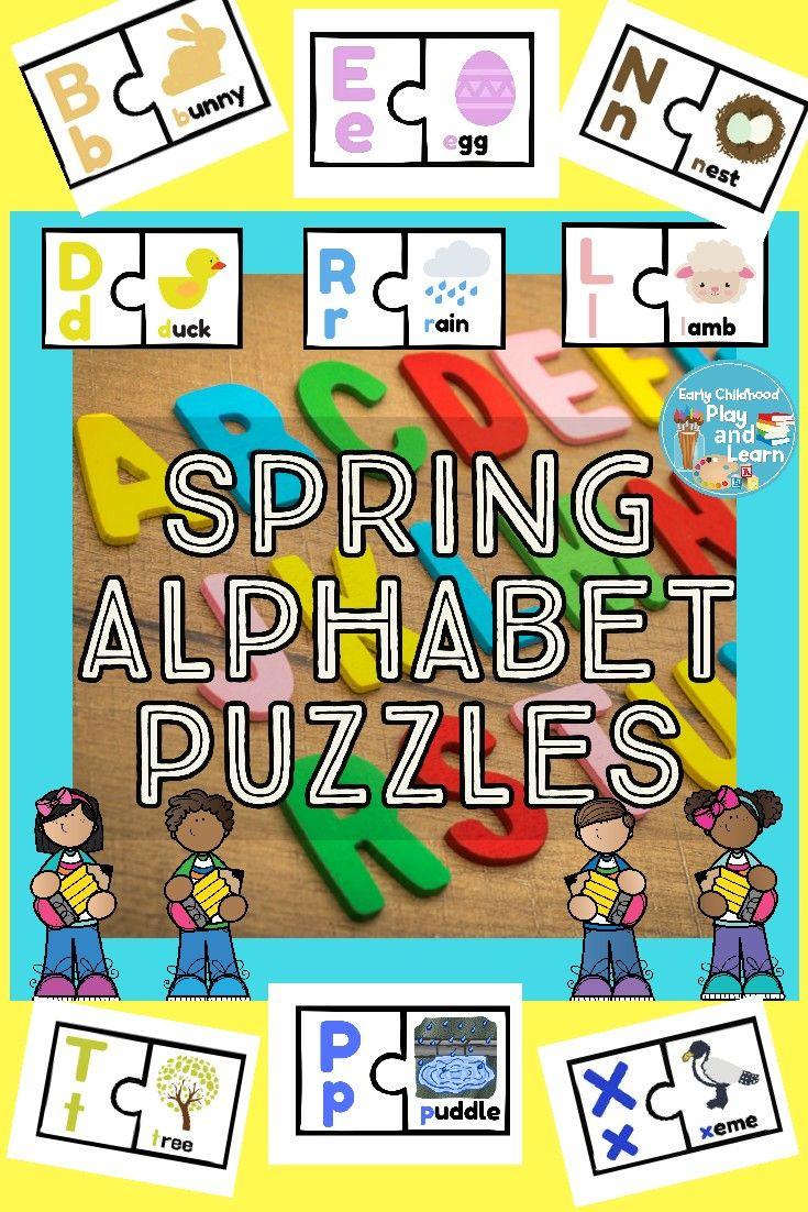 Spring Alphabet Puzzles Alphabet puzzles, Alphabet