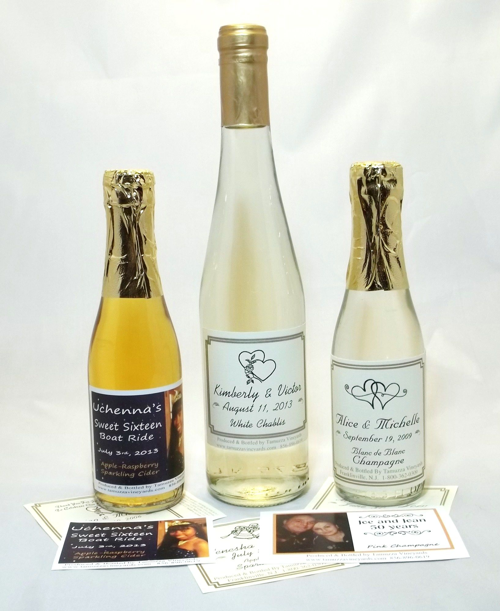 wedding favors - personalized sparkling cider wine & Champagne ...