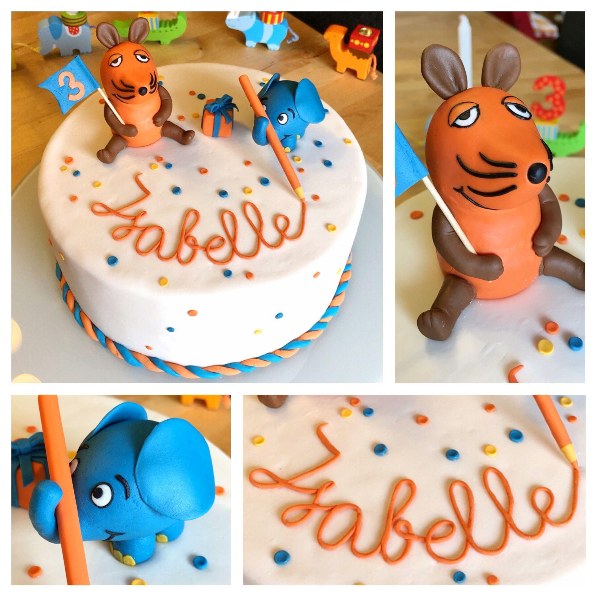 Sendung Mit Der Maus Torte Zum 3 Geburtstag Fimo Pinterest