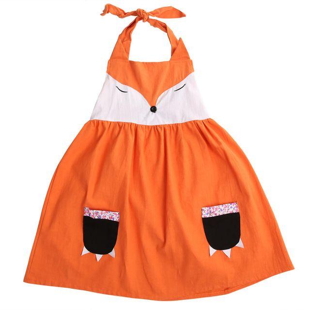Kleid orange madchen