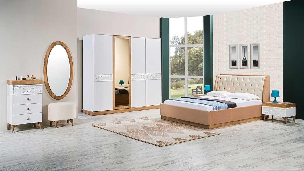 tezel solo yatak odasi takimi bej oturma odalari luks yatak odalari yatak odasi ic mekan