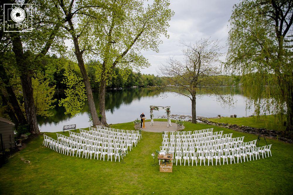Old Daley On Crooked Lake Wedding Ceremony Photo. Ceremony