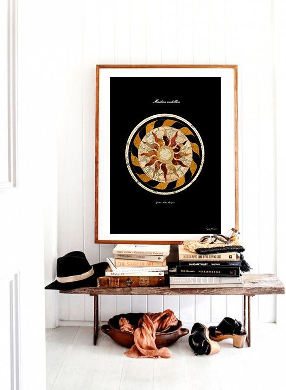 Meridian -Vintage, Neo retro, Astronomy, design, home decor, poster ...