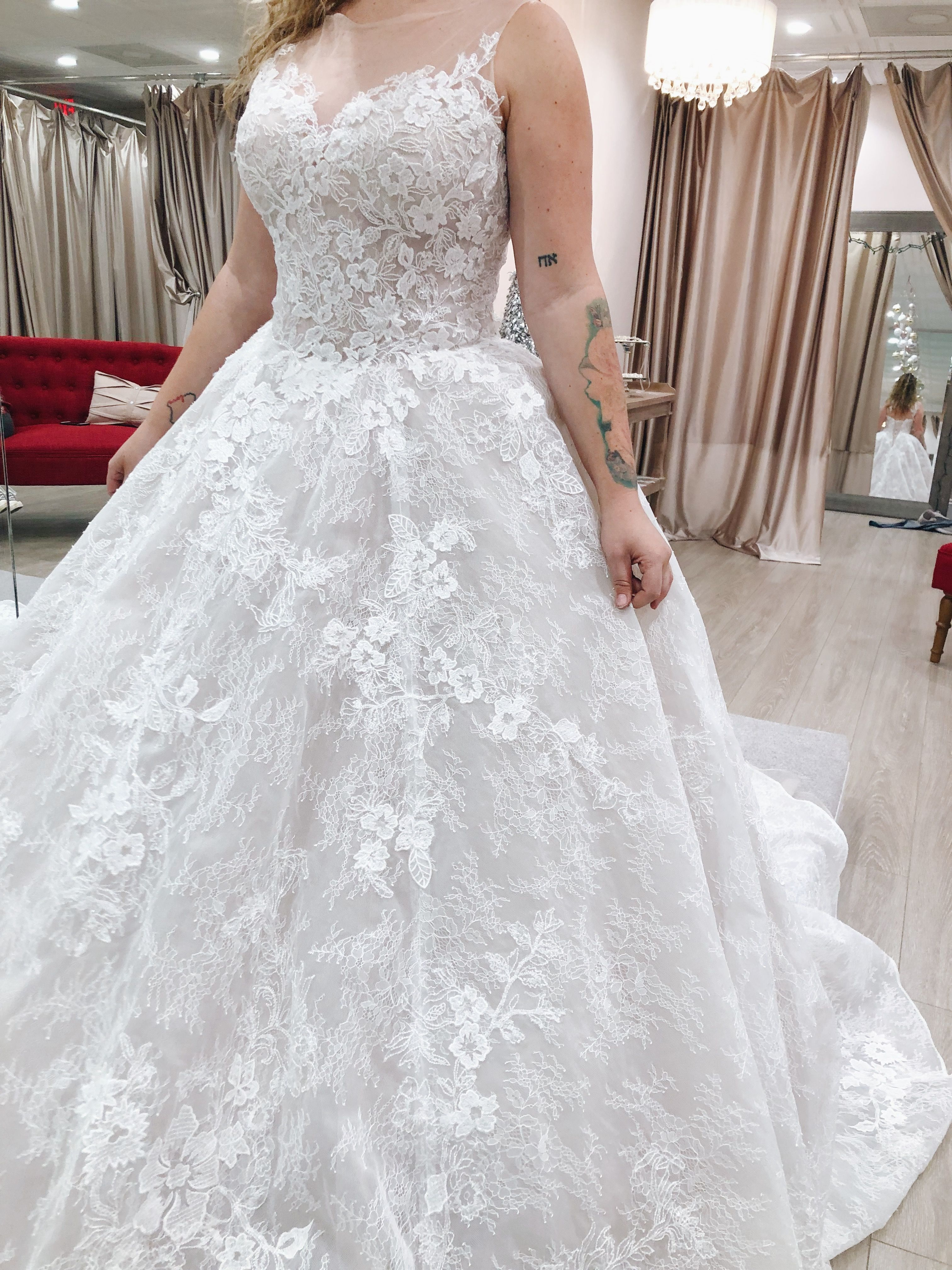 Aphrodite Is A Statement Wedding Dress With It S Blush Undertone And Unique Lace This Dress Plus Size Wedding Dresses With Sleeves Wedding Dresses Ball Gowns [ 4032 x 3024 Pixel ]