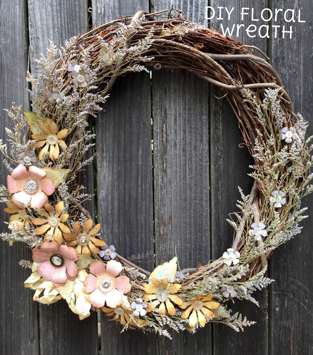youtube how to make a floral wreath