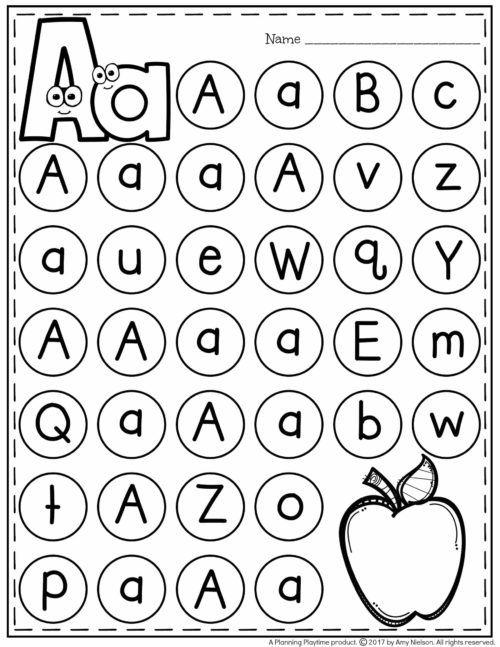 Letter Worksheets Preschool Worksheets, Letter Worksheets, Preschool Recognition Alphabet Printables Free Letter Worksheet Alphabet Mazes Page A