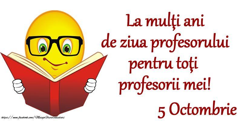 La Mulţi Ani De Ziua Profesorului Pentru Toţi Profesorii Mei 5 Octombrie Novelty Sign Novelty