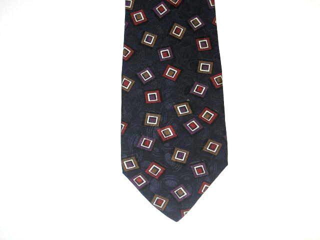 7c843c81b827 Westbury Collection Silk Necktie - Red Purple White Tan & Black Squares on  Blue #fashion
