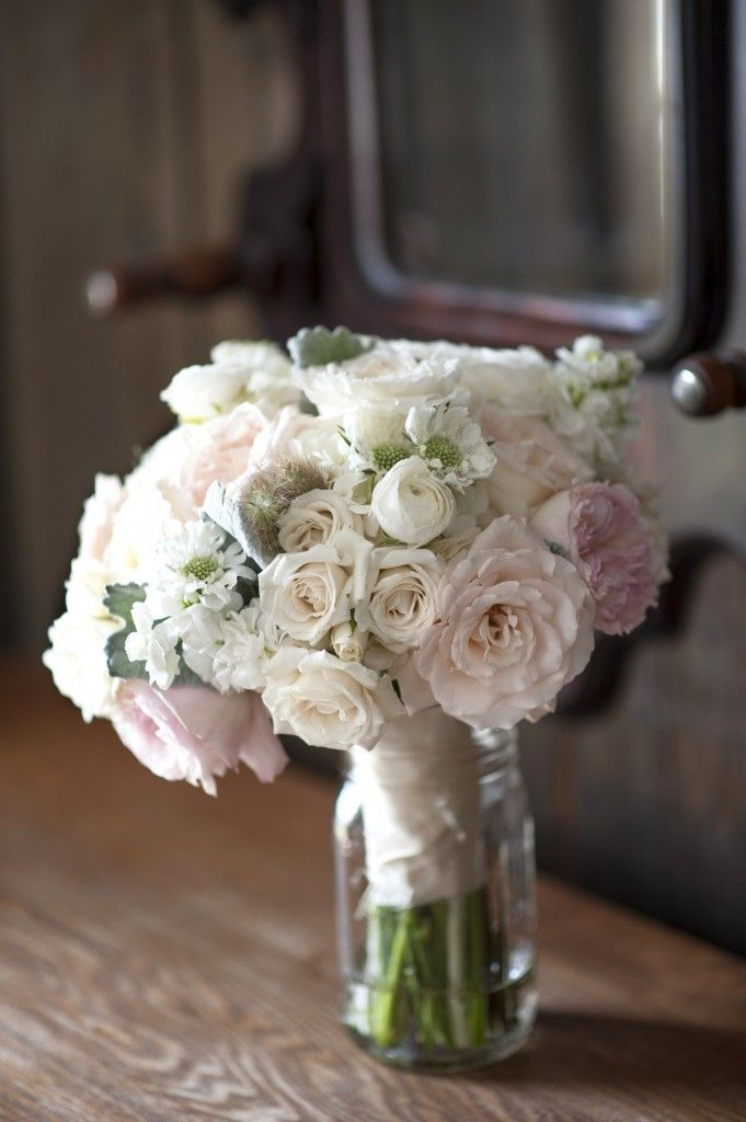 Soft blush pink and cream bouquet