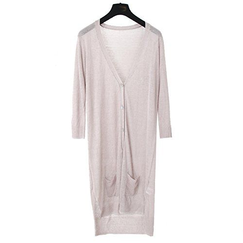 Liuanan Women V Neck Long Sleeve Summer Cardigan Knitwear Linen ...