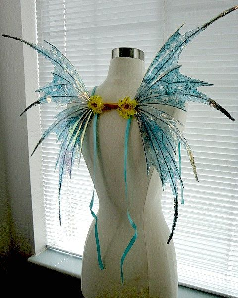Fairy Wings-Iridescent Turquoise Sprite Adult and Children (Made to Order by…