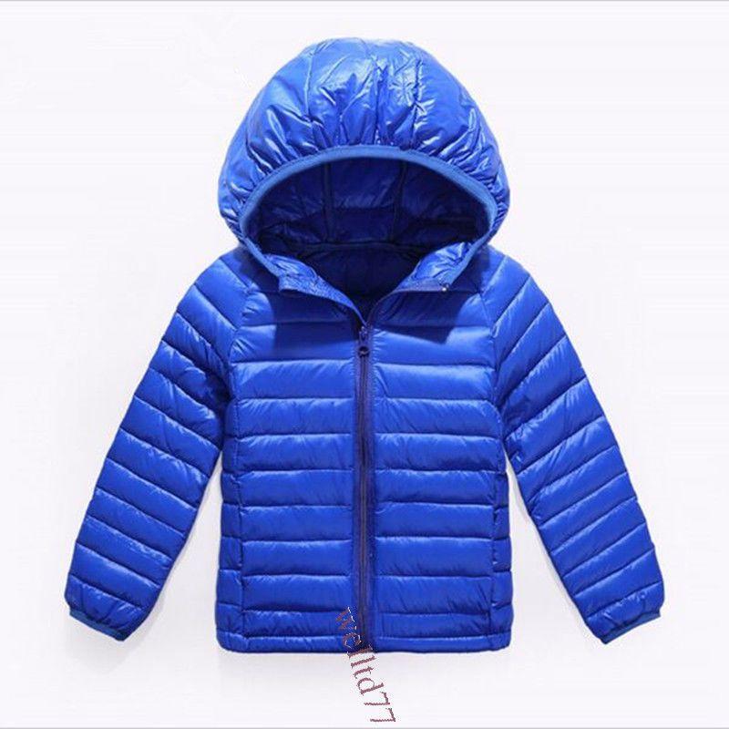 4fc07eb98 Kids Boy Girl Down Jacket Winter Cloth Warm Duck Feather Hoodies ...