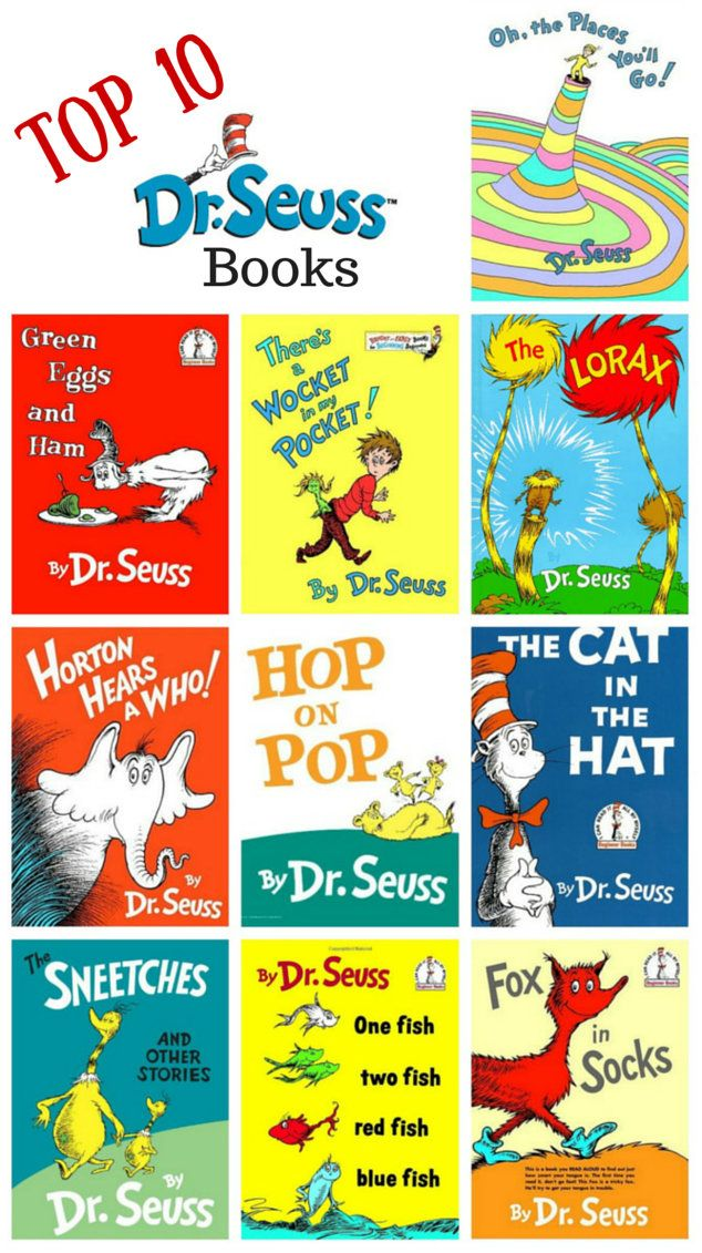 Top 10 Dr Suess Books The More That You Read Pinterest