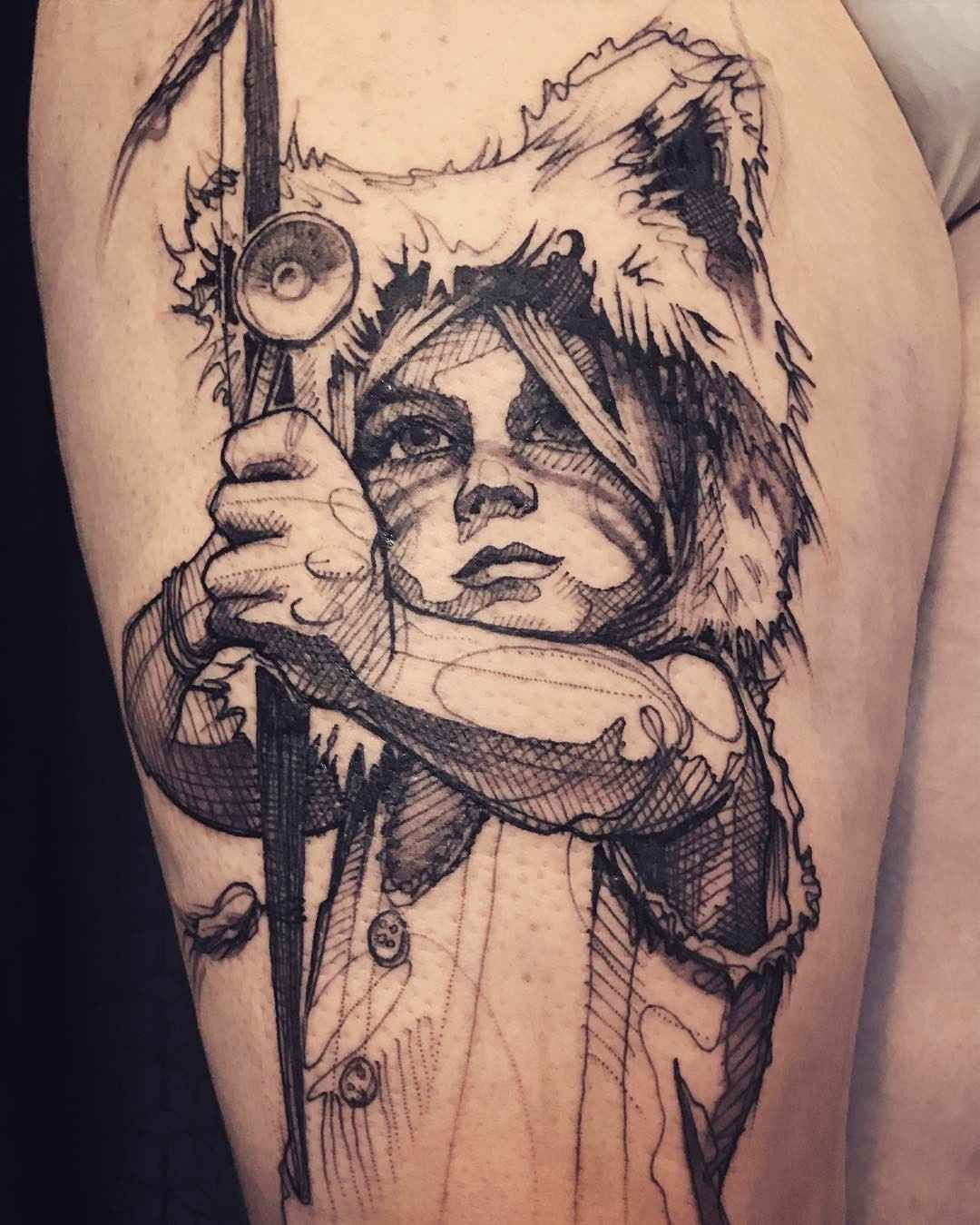 Photo of Energy of sketch tattoos by L'oiseau
