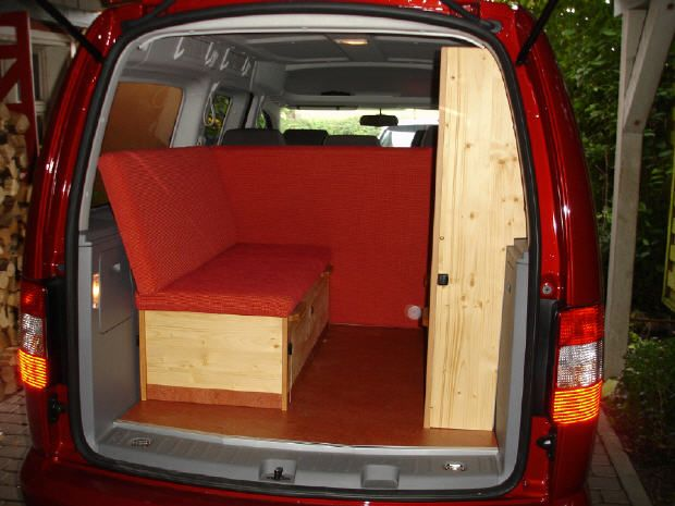 vw caddy maxi mit trendline bio m belbausatz mal. Black Bedroom Furniture Sets. Home Design Ideas