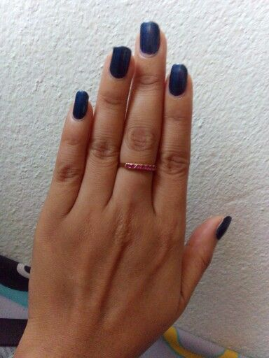 Dark blue nails for a witch