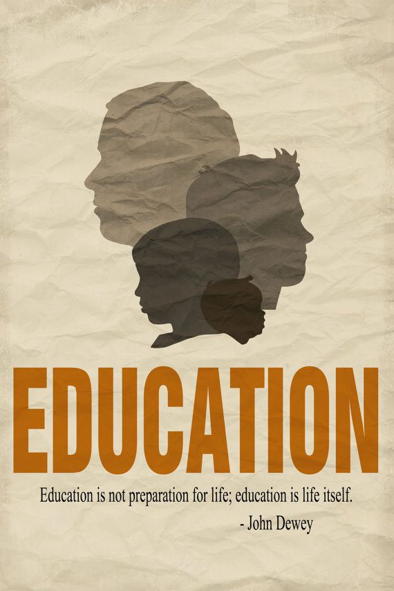Decorative Education Quote Poster - Male Silhouettes - 20x30 Brown ...