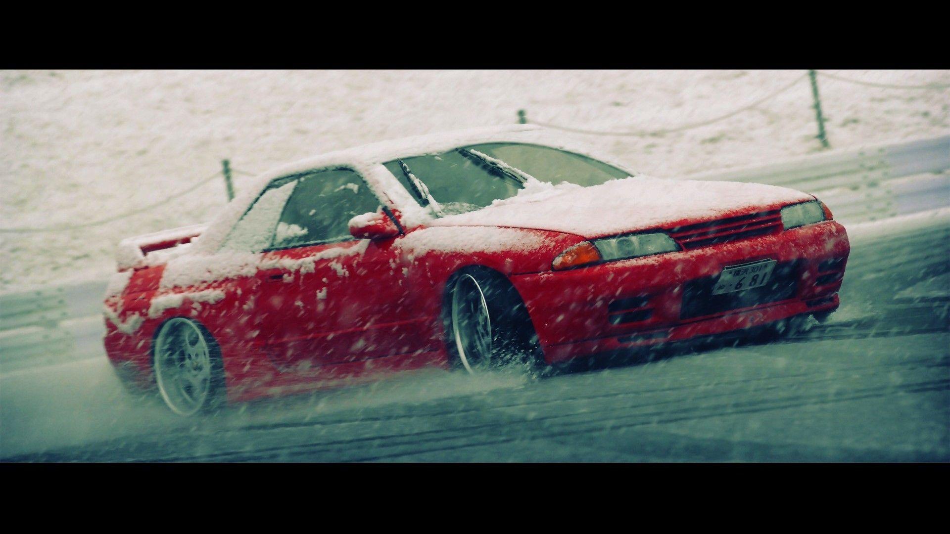Monochrome Car Wreck Nissan Skyline R Wallpapers HD Desktop