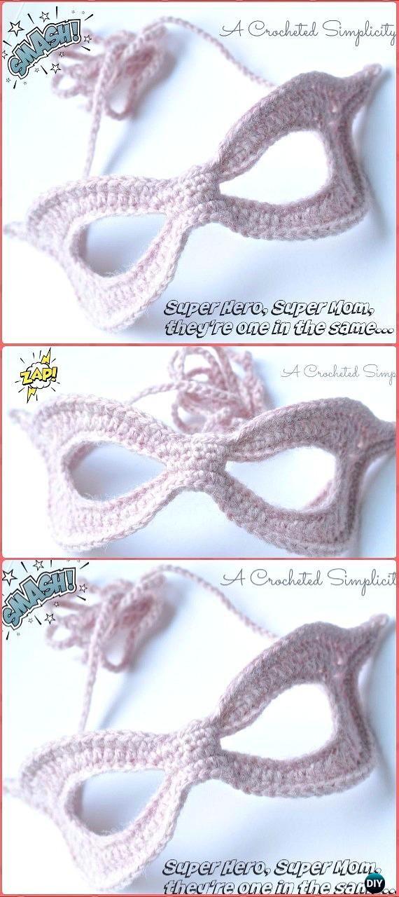 Masquerade Beauty Crochet Eye Mask Patterns | Ganchillo, Antifaz y ...