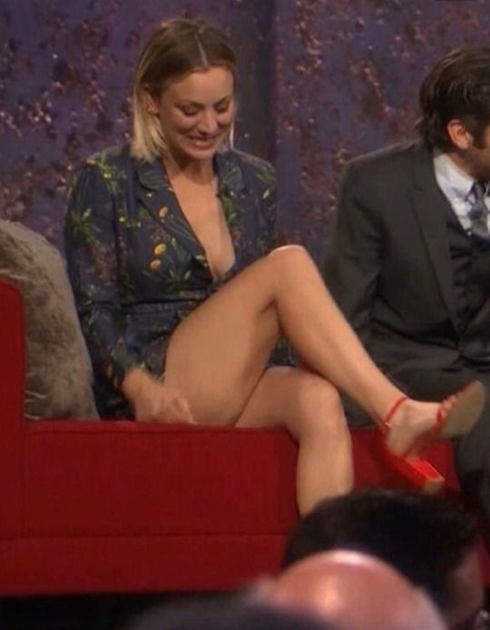 Kaley Cuoco Thinking Thus Darned Outfit Is Pretty Short