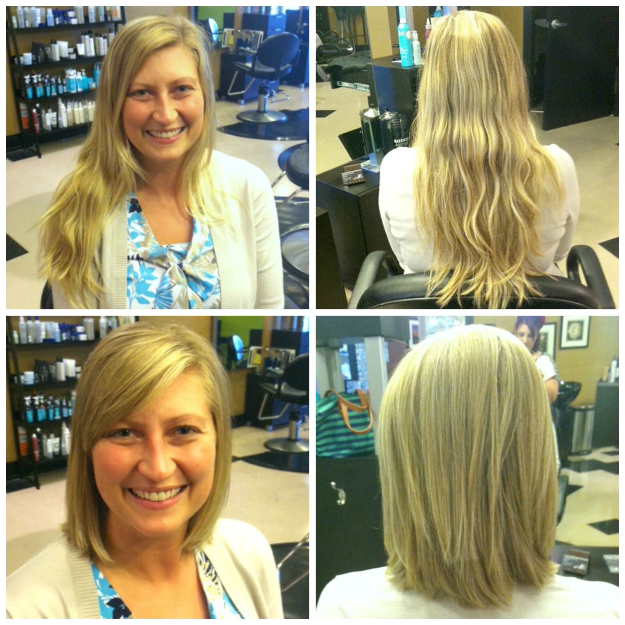 Long Locks To Lightly Layered Shoulder Length Bob By Jamie At