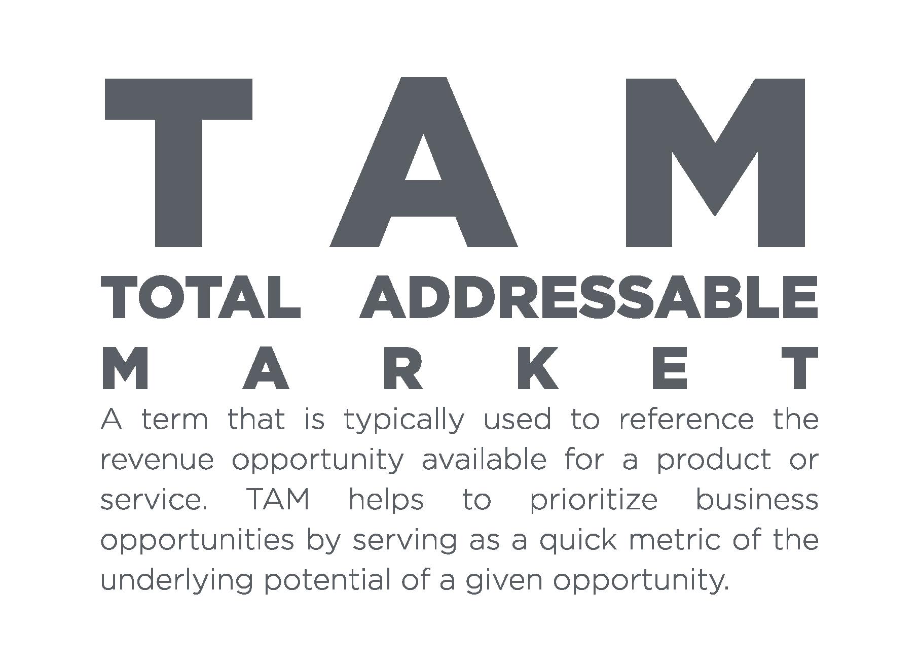 TAM Total Addressable Market
