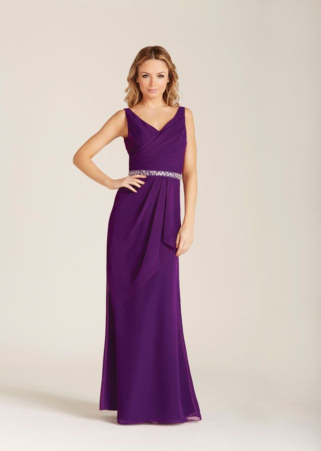 The gorgeous ALBA chiffon Bridesmaids dress with beaded waistband ...