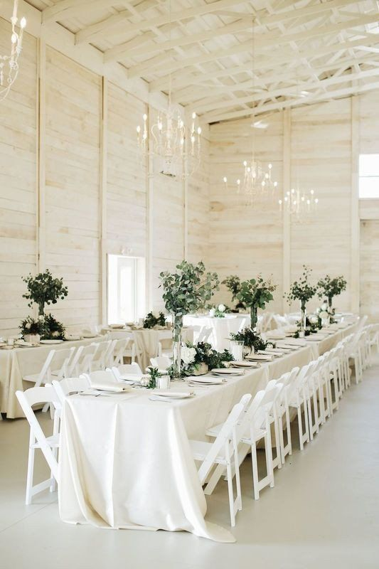 This White Wedding Decor Is Straight out of a Dream -   11 white wedding Barn ideas