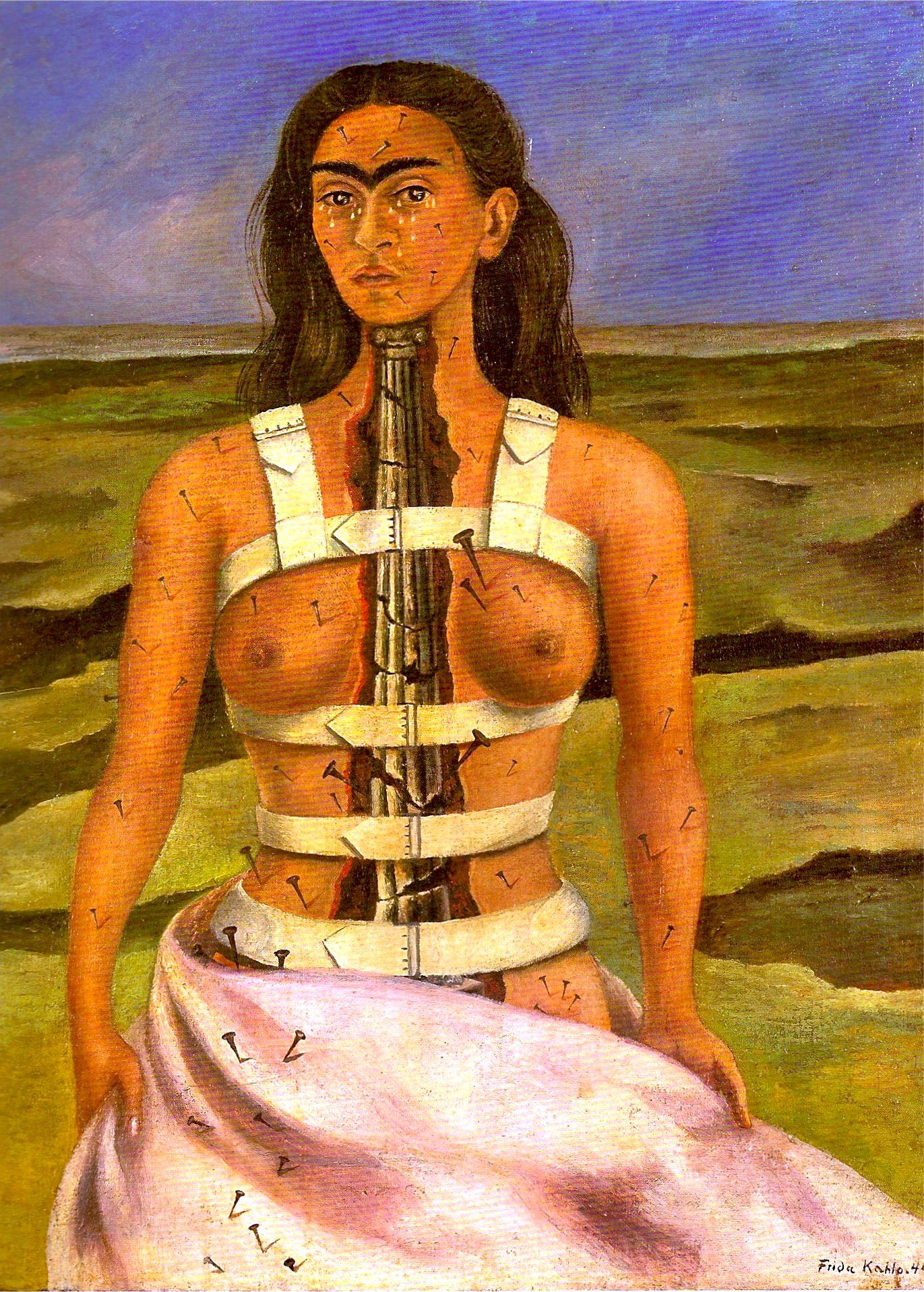 Resultado de imagen de la columna rota frida kahlo