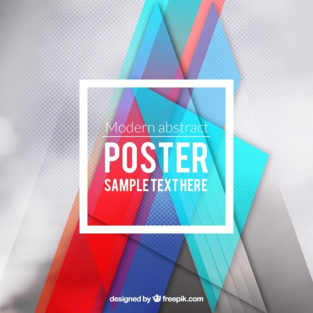 Modern Poster modern poster in abstract style free vector resource pattern