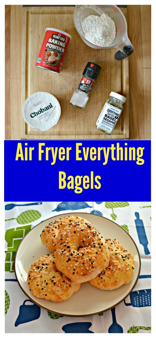 Air Fryer Everything Bagels Recipe Bagel recipe