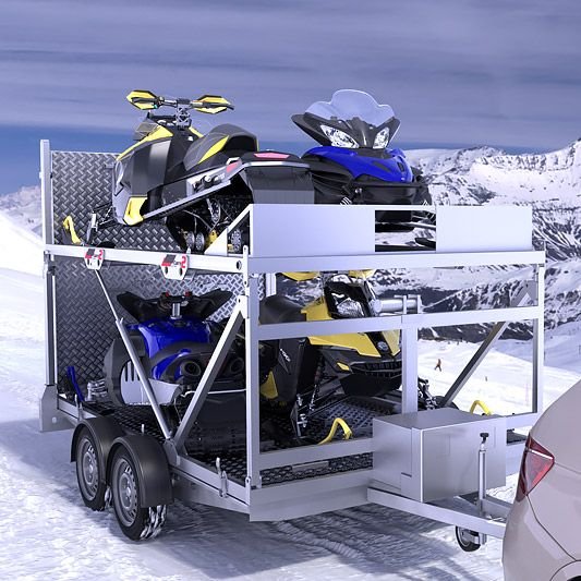 Single Sled Ramp Loader Snowmobiles Parts Trailers Accessories