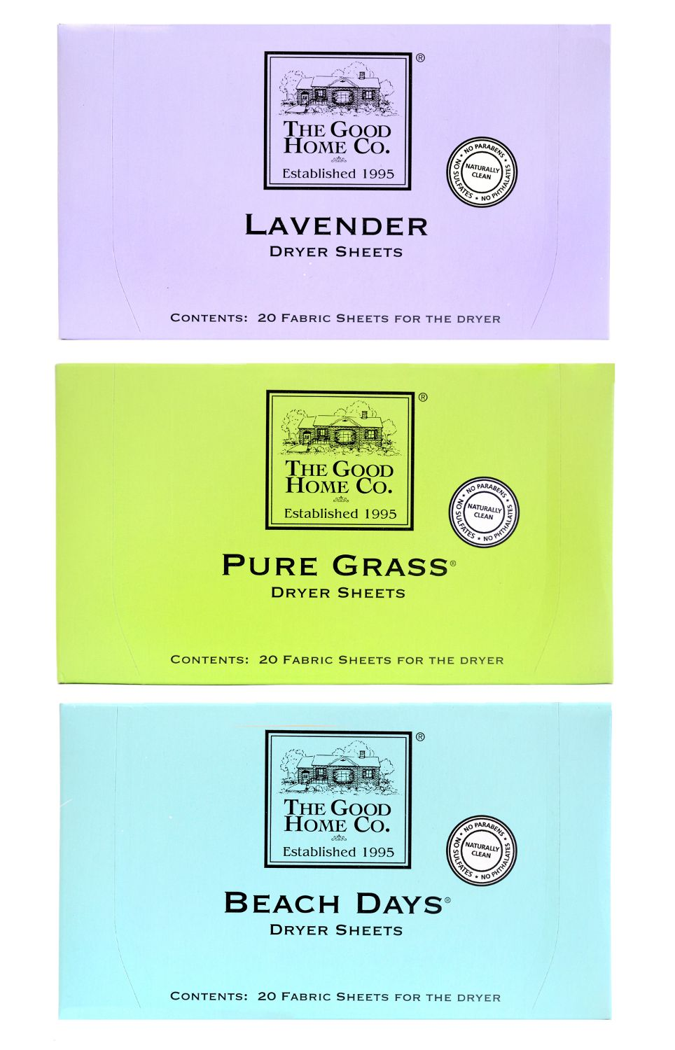 Scented Dryer Sheets from The Good Home Co.