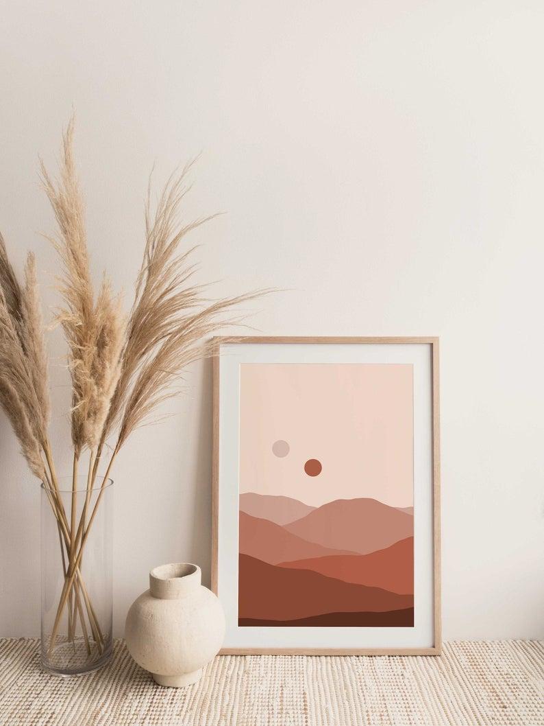 Tatooine Dunes Art Print Abstract Art Digital Art Art Etsy In 2020 Minimal Wall Art Dune Art Neutral Wall Art