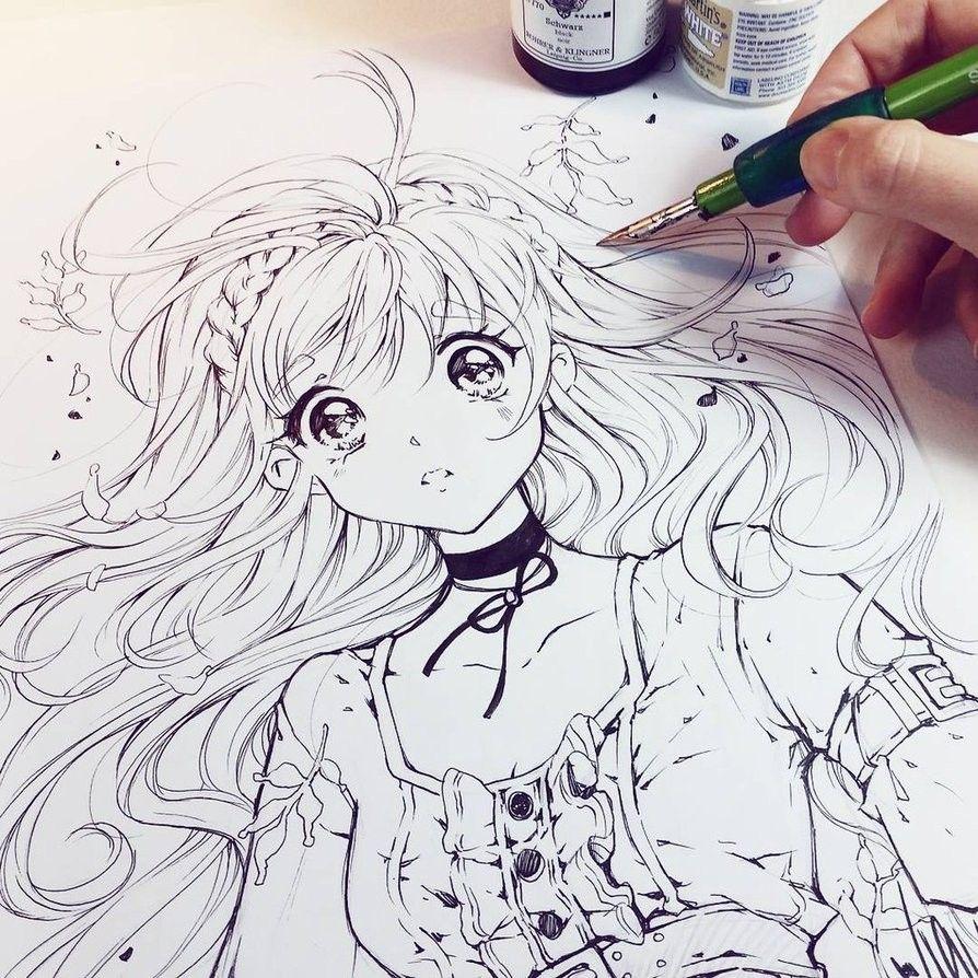 Картинки аниме по рисованию