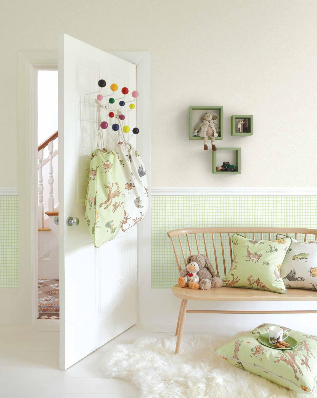 Empapelado Cuadrillé Verde Papel De Parede Kids Room Wallpaper Kid Room Decor Funky Wallpaper