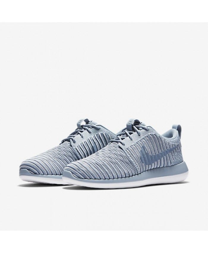 fbfe2f8747051 Nike Roshe Two Flyknit Blue Grey Ocean Fog Pure Platinum Womens Sale Cheap