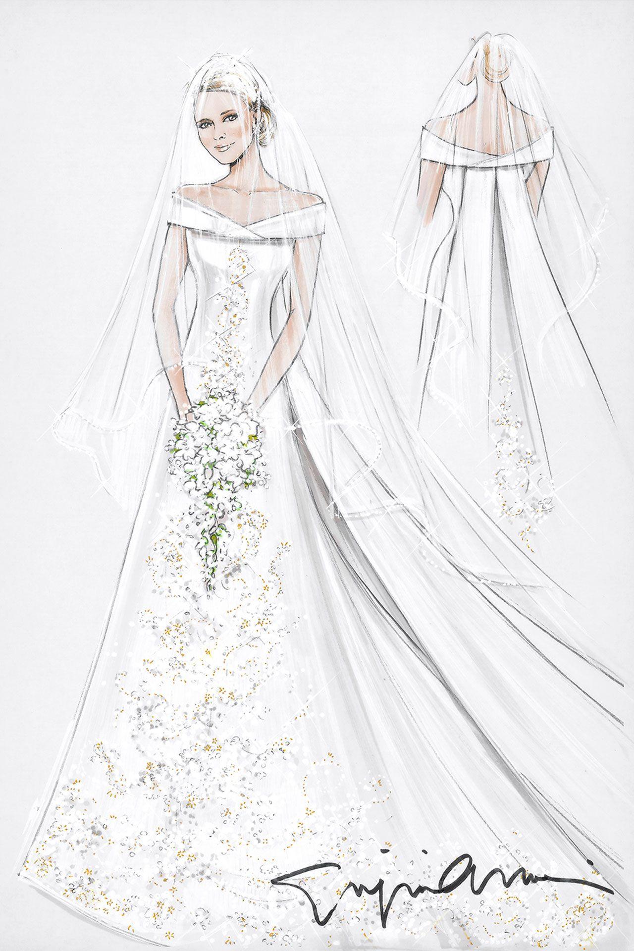 Wedding Exclusive   Silk organza, Veil and Princess charlene