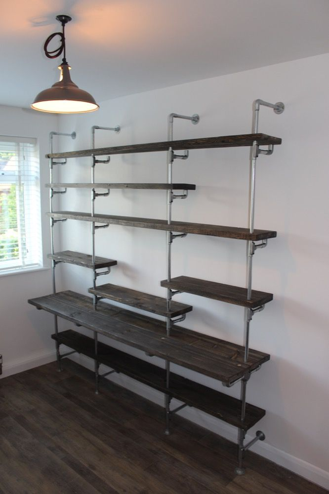 Metal Conduit Alternative Use 1 Shelving Unit Kitchen Design Diy Shelving Metal Shelving Units