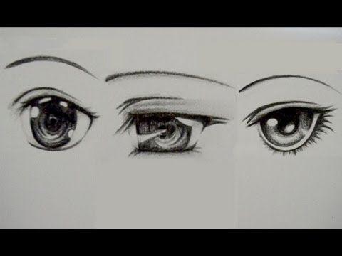 como dibujar ojos manga
