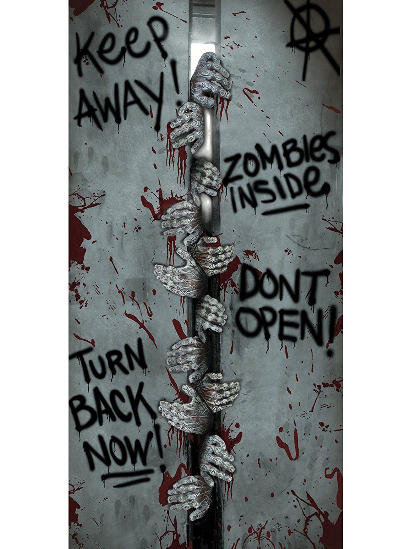 Perfect ... Da Die Zombies Im Aufzug Eingesperrt? Diese Tür Sollten Sie Lieber  Nicht öffnen...Geniale Halloween Türdeko Für Jede Zimmertür!Das Zombie  Poster Lässt ...