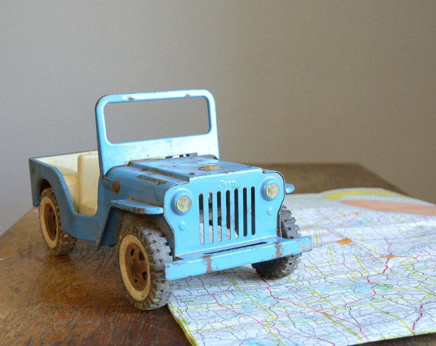 Jeep toys images  RESERVED  Vintage s Rare JC Penney Tonka Jeep Wrecker Toy