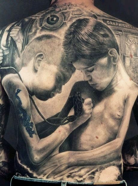 naked tatted men and women together