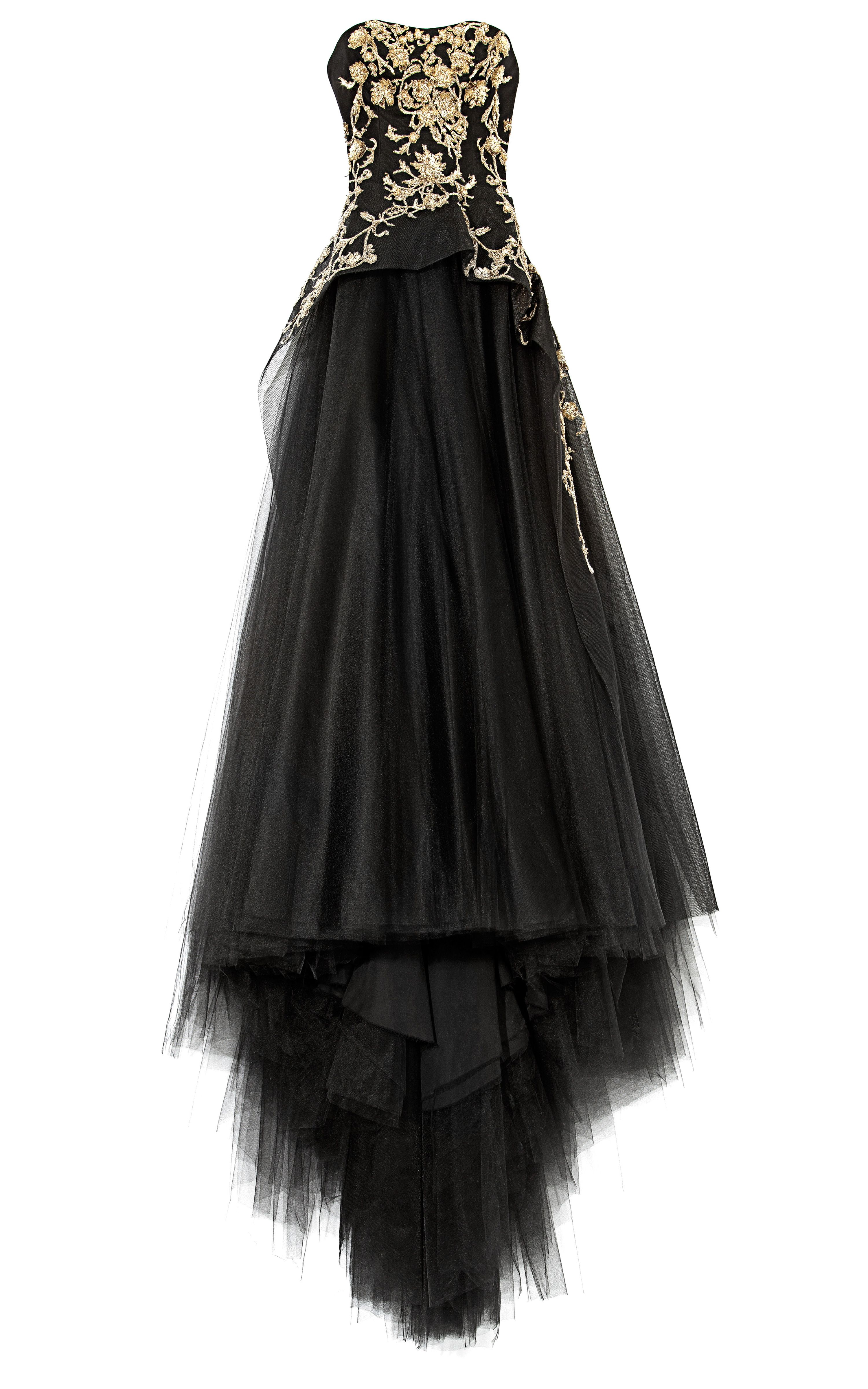 Tulle Ball Gown With Structured Bodice by Marchesa for Preorder on ...