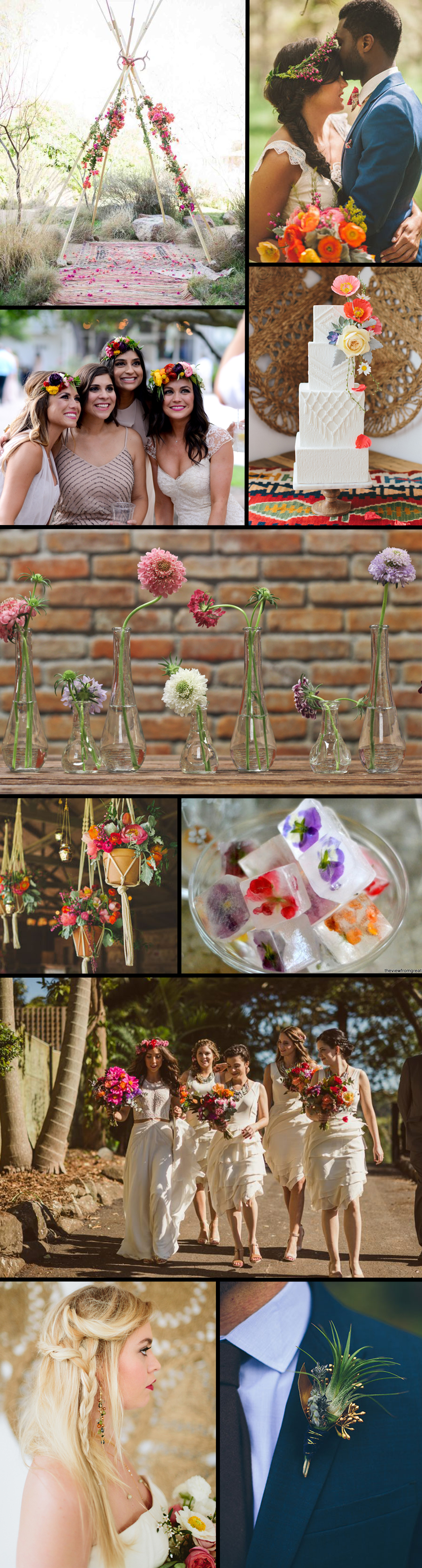 The only thing that could make the effortlessly chic Bohemian wedding theme even more appealing is adding in a heavy dose of color!